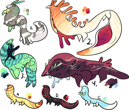Sweavel Adoptables - 2/7 open by mute-owl