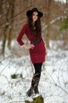 Elo Red Winter pose by elodie50a