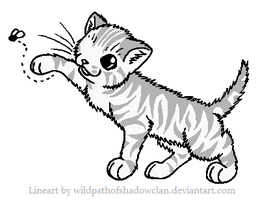 Kit Tabby Lineart by WildpathOfShadowClan