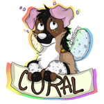 Coral Badge by Boonnie