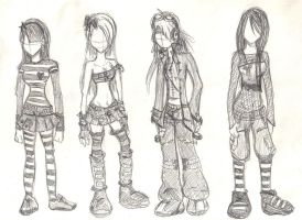 Character Outfits 1 by Xedramon