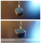 Blue Stone Pendant by JKL-Designs