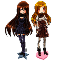 DGM: Rei and Doll - pixel by GazeRei