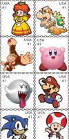 Nintendo Stamps by Pixeleater