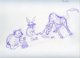 Never Play Poker with Mr. Bear by Lelunae