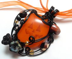 Jack O' Lantern Pendant by sojourncuriosities