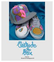 Doughnut hat and shoes by OSTB
