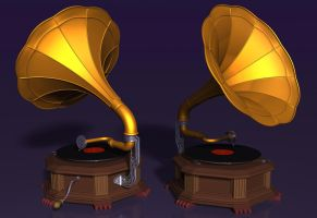 Gramophone by xmas-kitty