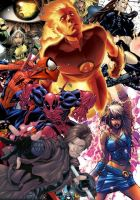 The Heroes of Marvel by anaer-art