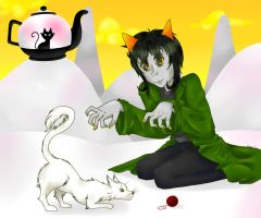 Land of Little Cubes and Tea:Zodiac Contest Nepeta by Nyuu-Kyuu