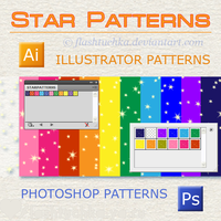 Illustrator Star Patterns by flashtuchka