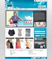 New Fashion Label WP Page by chykalophia