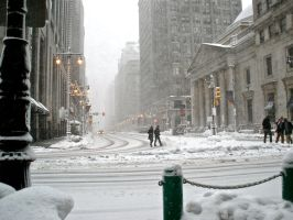 Center City Snow by listentothebeat