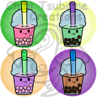 Bubble Tea Buttons by Izit-Sama