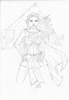 Supergirl Pin-Up by illustrateer-imls