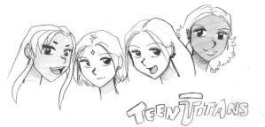 Teen Titans - The Girls by teentitans