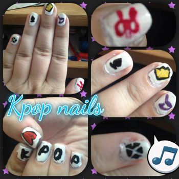 kpop nails~ by a7xguitargodess