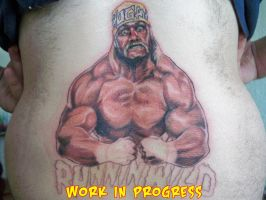 Hulk Hogan Tramp Stamp WIP by johndevilman