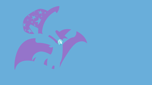 My Minimal Pony: The Great and Powerful Trixie! by UtterlyLudicrous