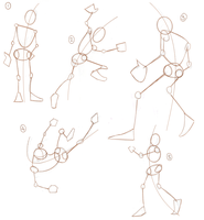 Action Poses Practice -1- by aypreel