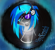 Vinyl Scrath on vinyl by FushigiOoka