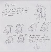 Anthro Dragon Guide : The head by Dragon-Wish