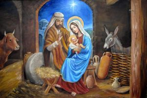 nativity with manger by dashinvaine