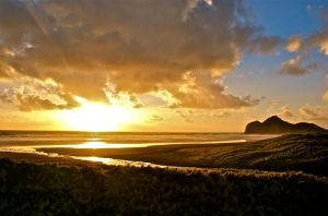 bethells sunset by BenCrowlePhotography