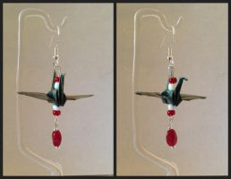 Gettysburg Origami Crane Earrings by Udavrajati