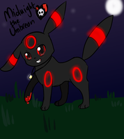 Midnight The Red-ringed Umbreon by Windaura