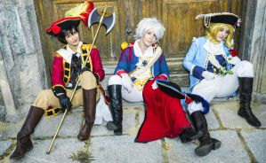 Mendigos - Bad Touch Trio cosplay by Voldiesama
