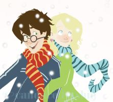 Harry and Luna: Magical Winter by antoinette721