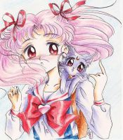 Chibiusa and Diana by Tyutya
