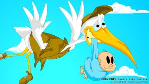 Stork at work by OuthouseCartoons