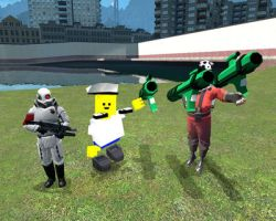 Me and Combine Soldier and Blockland Soldier by felipe1355
