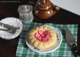 Strawberry tart by Worlds-in-Miniature