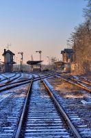 small train station HDR by freaky-x