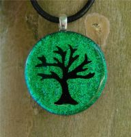 Tree Medalion Fused Glass by FusedElegance
