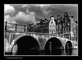 Buildings, Bridge - Amsterdam by inessentialstuff