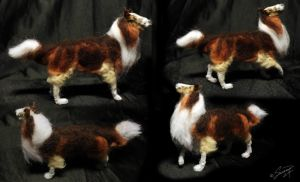 Needle felted collie III by Saranna