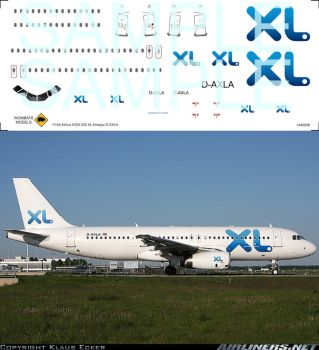 1/144 Airbus A320-232 XL Airways D-AXLA by WombatsModels