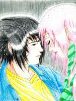 In The Rain by DesertRose69