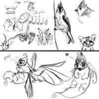 Quick night doodles by mydlas