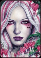 ACEO -- Bleeding Hearts by ElvenstarArt