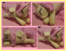 Sleeping Baby Fluttershy Plush by Busoni