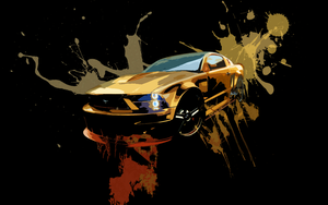 Mustang Posterized Wallpaper by Nextgenify