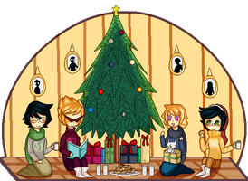 A Homestuck Holiday by Vezni