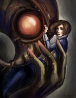Bioshock Infinite: Elizabeth and Songbird by TomkaViolea