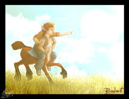 Centaur and a boy by rivalmit