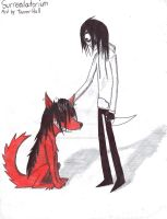 Jeff the Killer and Smile Dog by Sur-realatorium